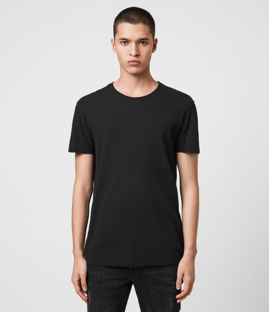 Men's Figure Crew 2 Pack T-Shirts (black) - Image 1