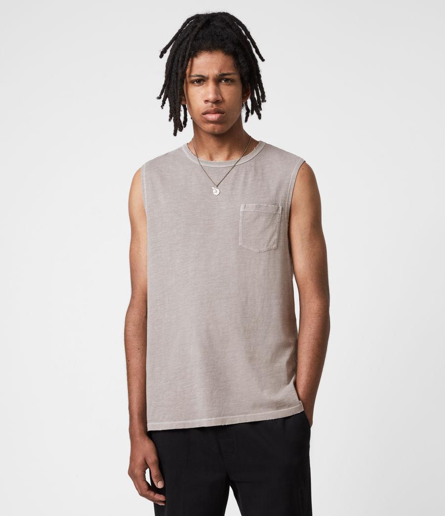 Men's Pilot Organic Cotton Vest (grey) - Image 4