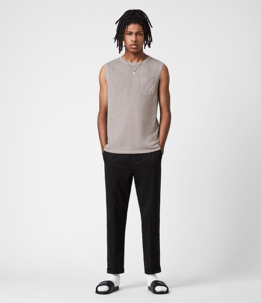 Men's Pilot Organic Cotton Vest (grey) - Image 6