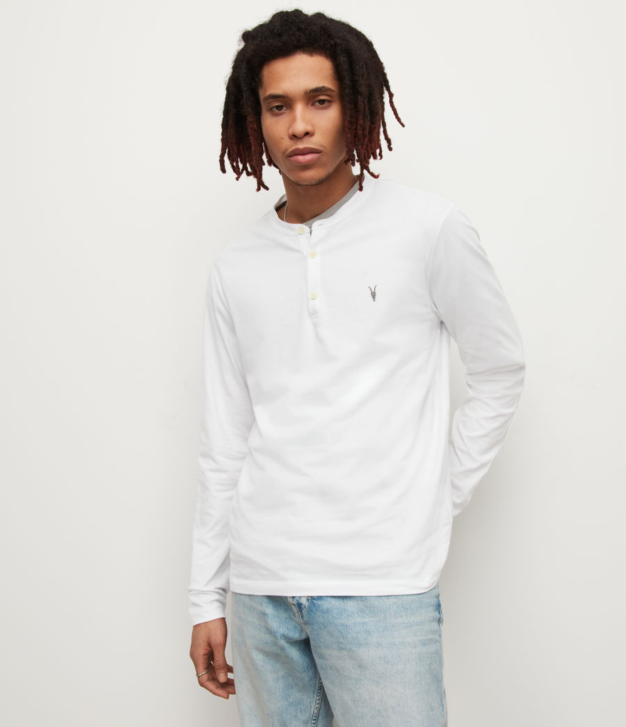 Men's Brace Henley (optic_white) - Image 1