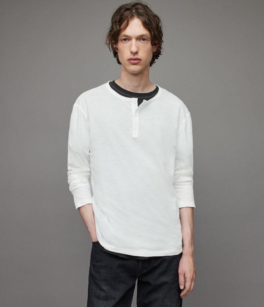 Herren Figure Long Sleeve Henley (optic_white) - Image 1