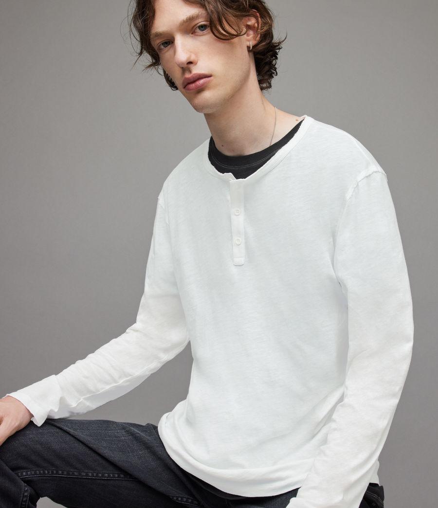 Herren Figure Long Sleeve Henley (optic_white) - Image 3