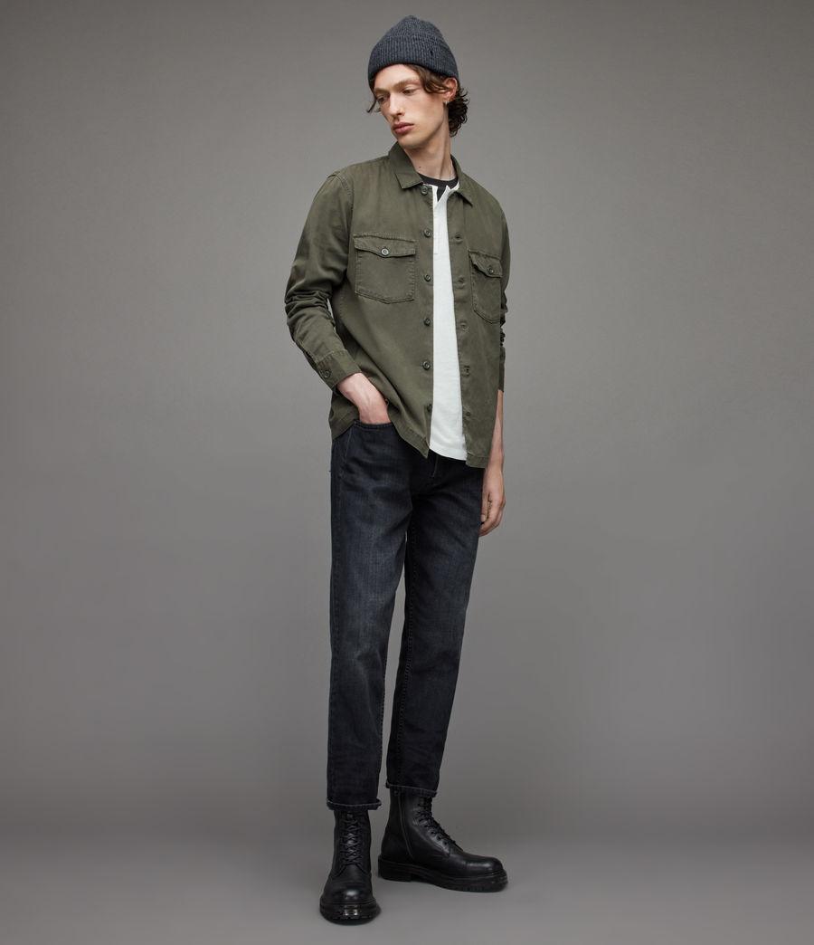 Herren Figure Long Sleeve Henley (optic_white) - Image 5