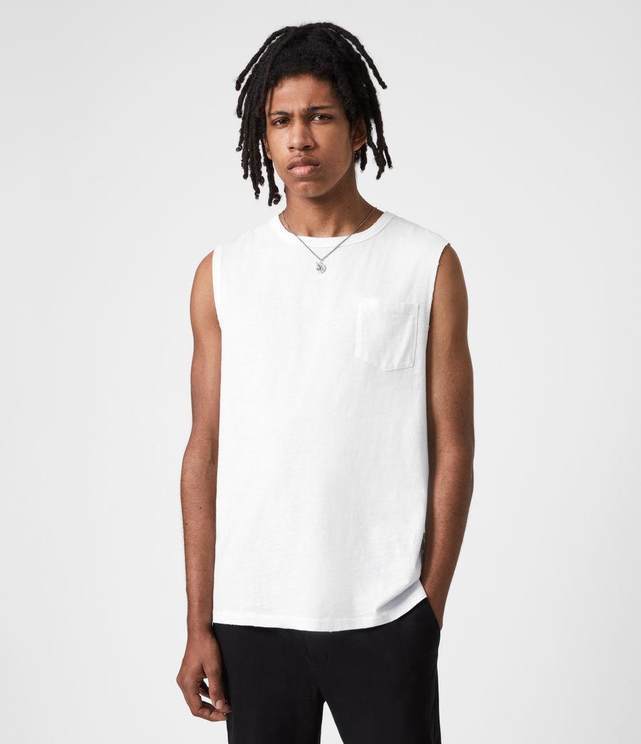 Men's Pilot Organic Cotton Vest (optic_white) - Image 1