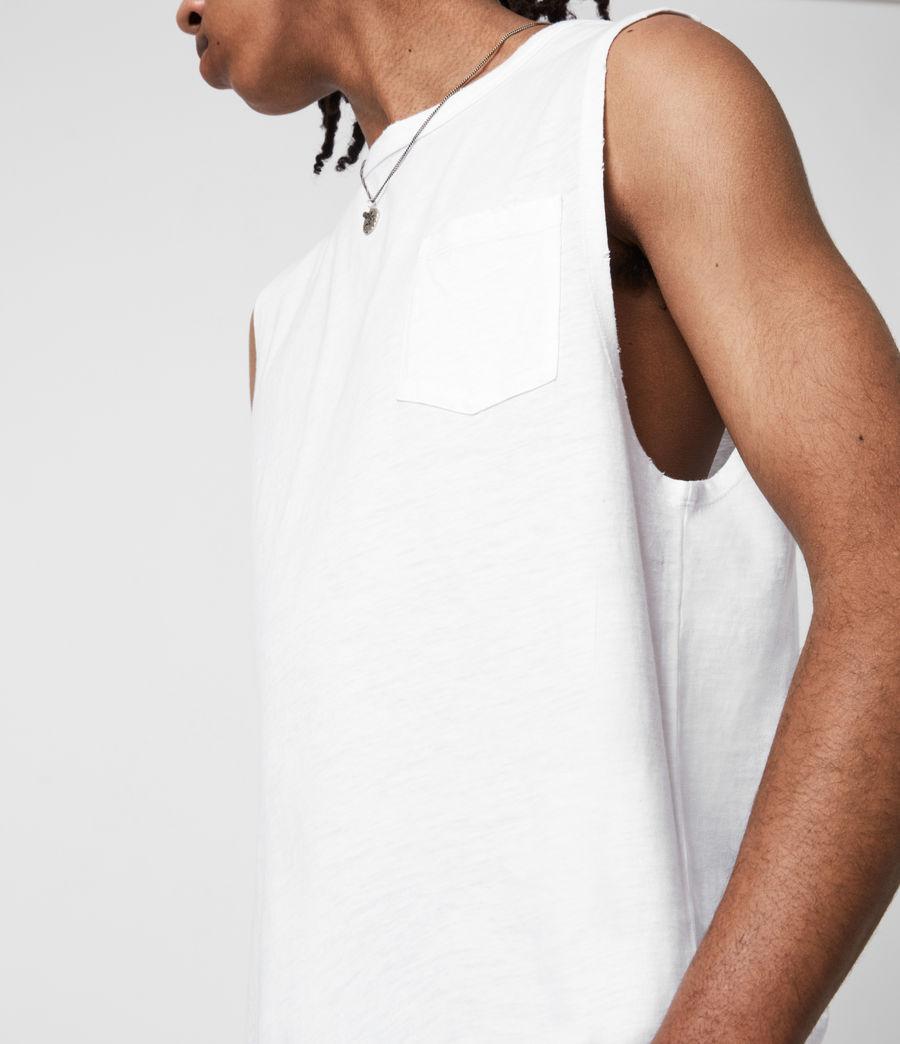 Men's Pilot Organic Cotton Vest (optic_white) - Image 4