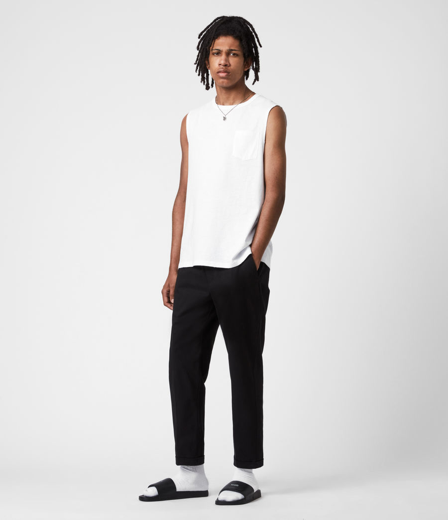 Men's Pilot Organic Cotton Vest (optic_white) - Image 6