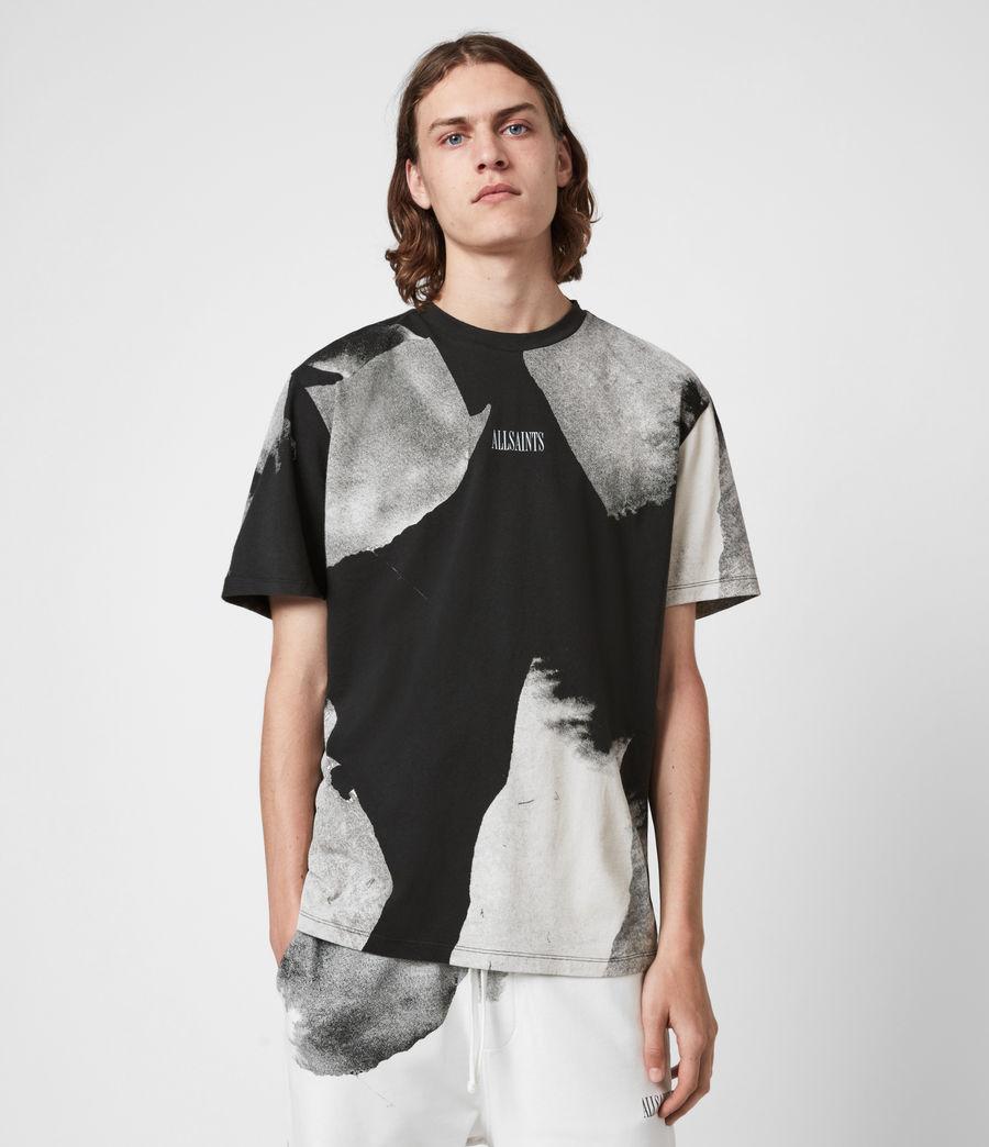 Men's Santana Crew T-Shirt (jet_black_grey) - Image 1