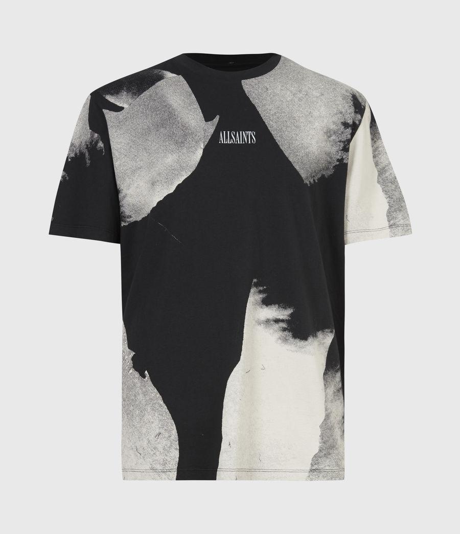 Men's Santana Crew T-Shirt (jet_black_grey) - Image 2