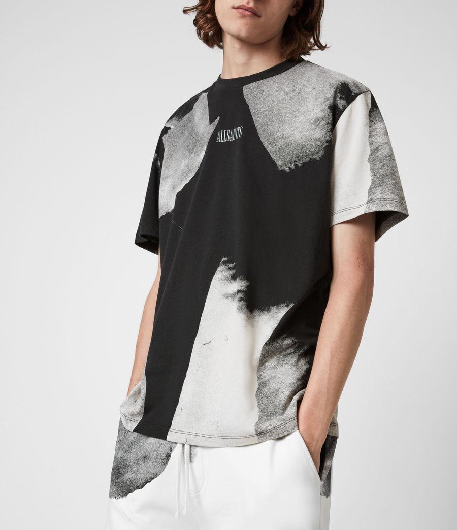 Men's Santana Crew T-Shirt (jet_black_grey) - Image 5