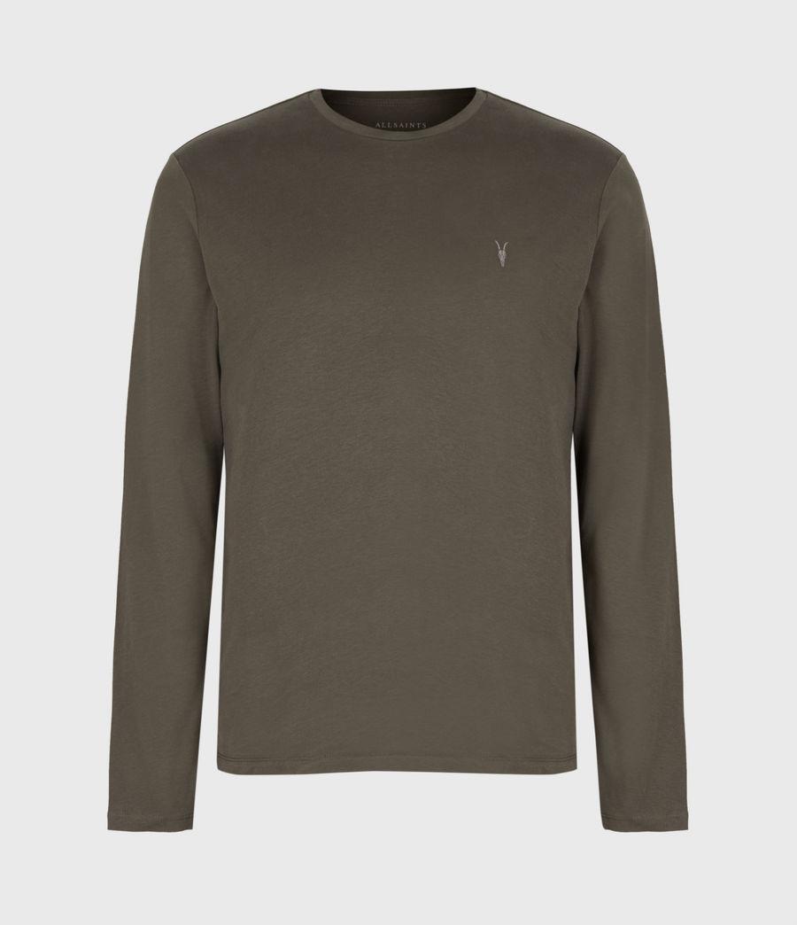 Mens Brace Long Sleeve Crew T-Shirt (balkan_green) - Image 2