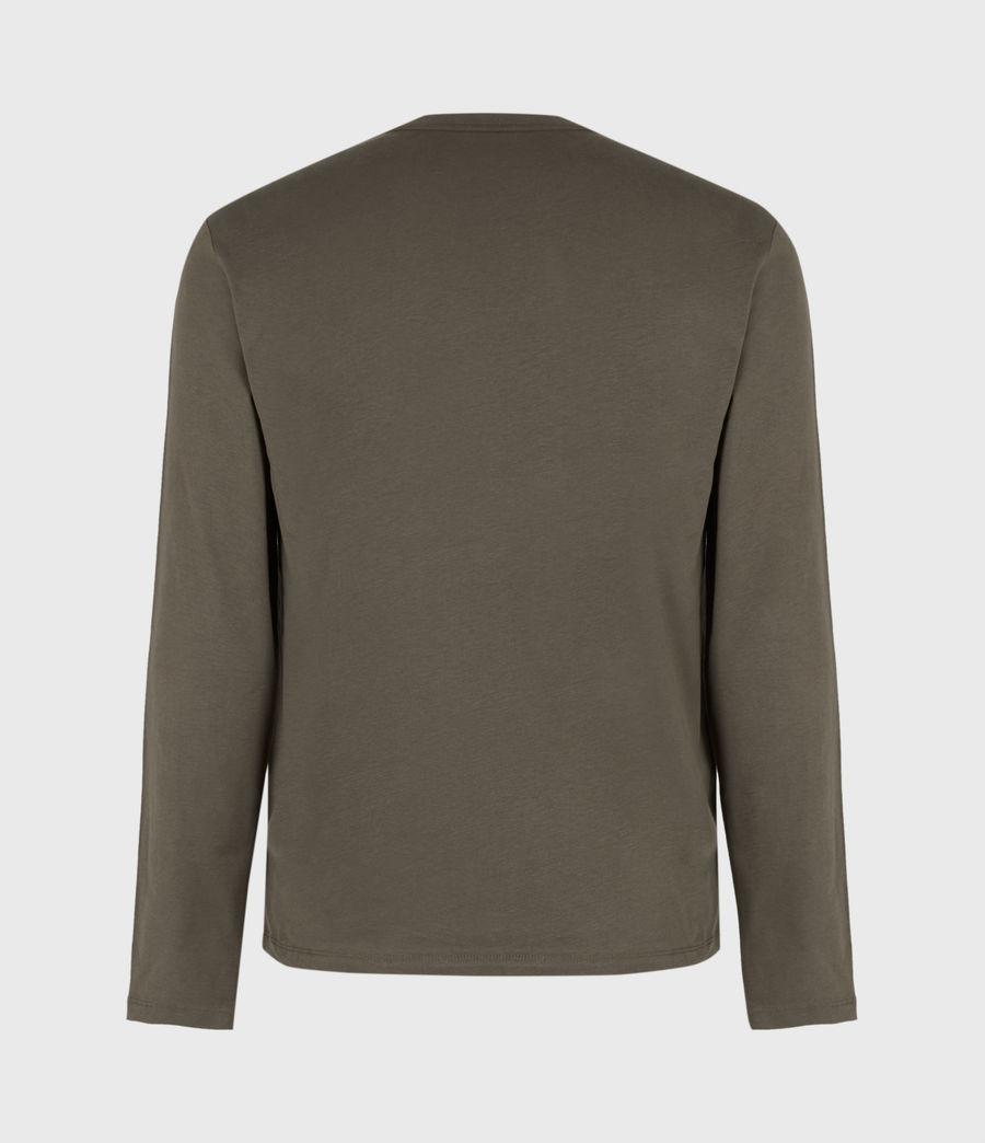 Mens Brace Long Sleeve Crew T-Shirt (balkan_green) - Image 3