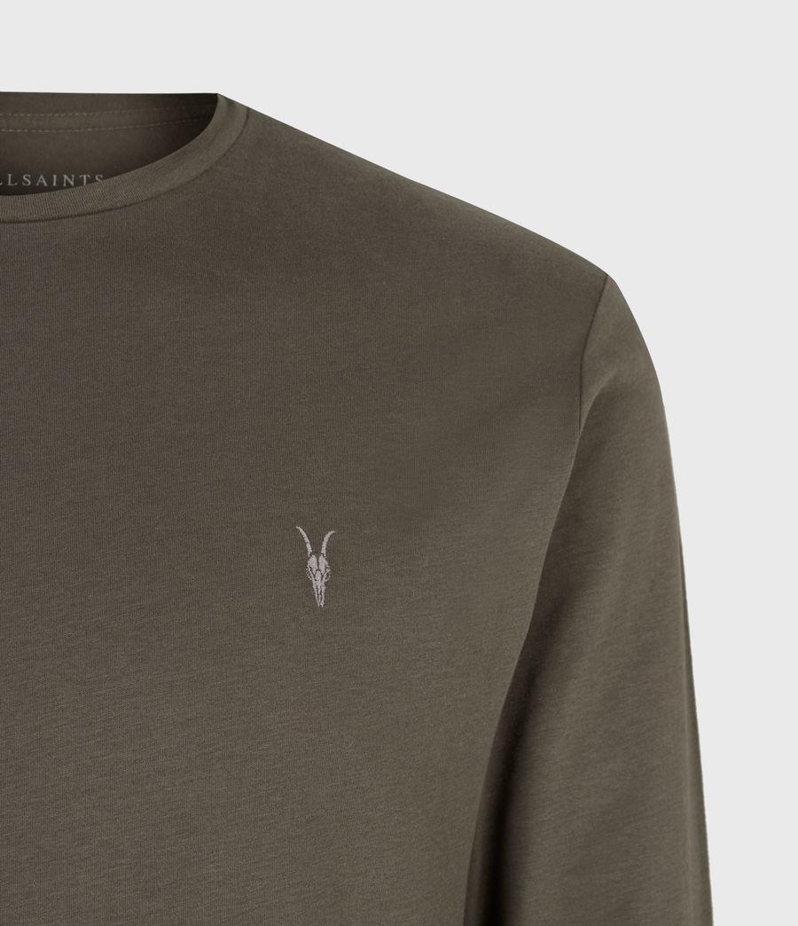 Mens Brace Long Sleeve Crew T-Shirt (balkan_green) - Image 5