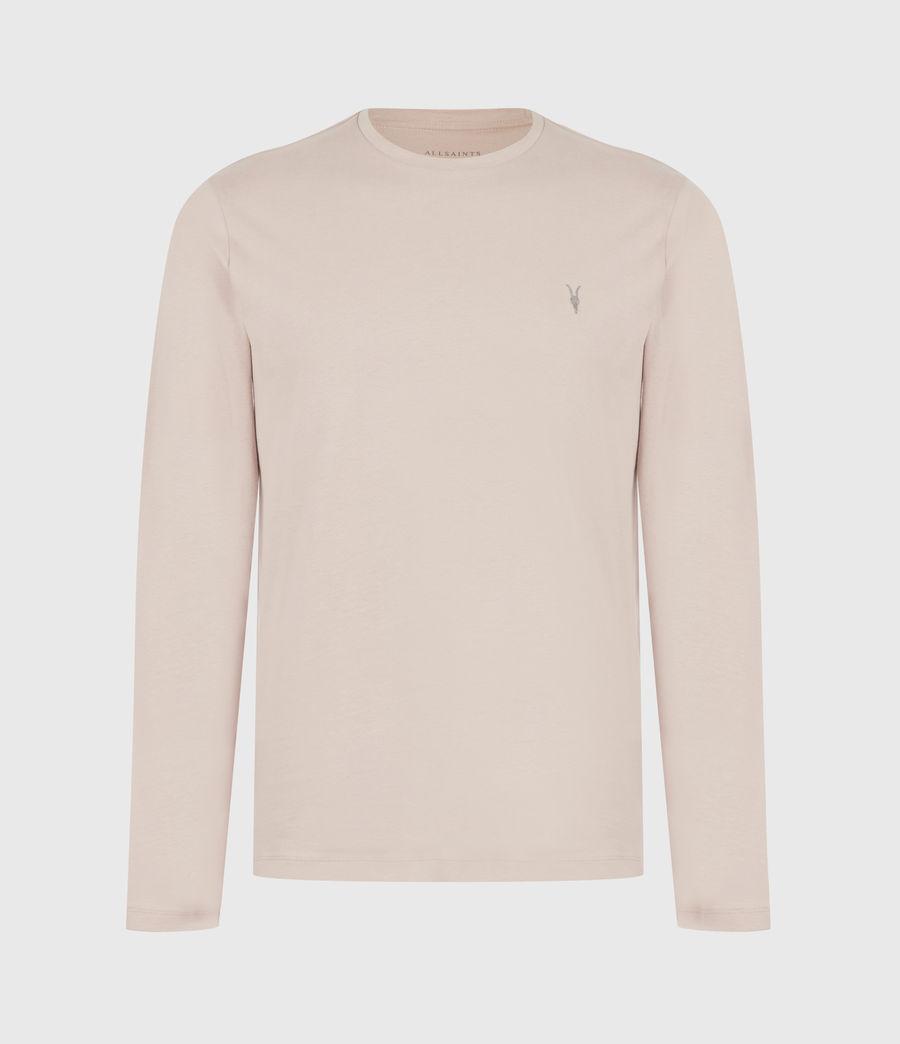 Mens Brace Long Sleeve Crew T-Shirt (balsa_stone_pink) - Image 2