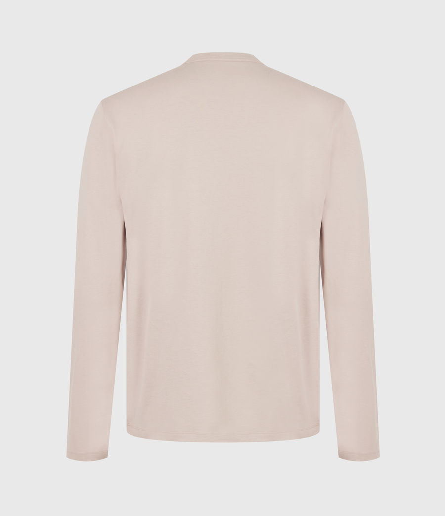Mens Brace Long Sleeve Crew T-Shirt (balsa_stone_pink) - Image 3