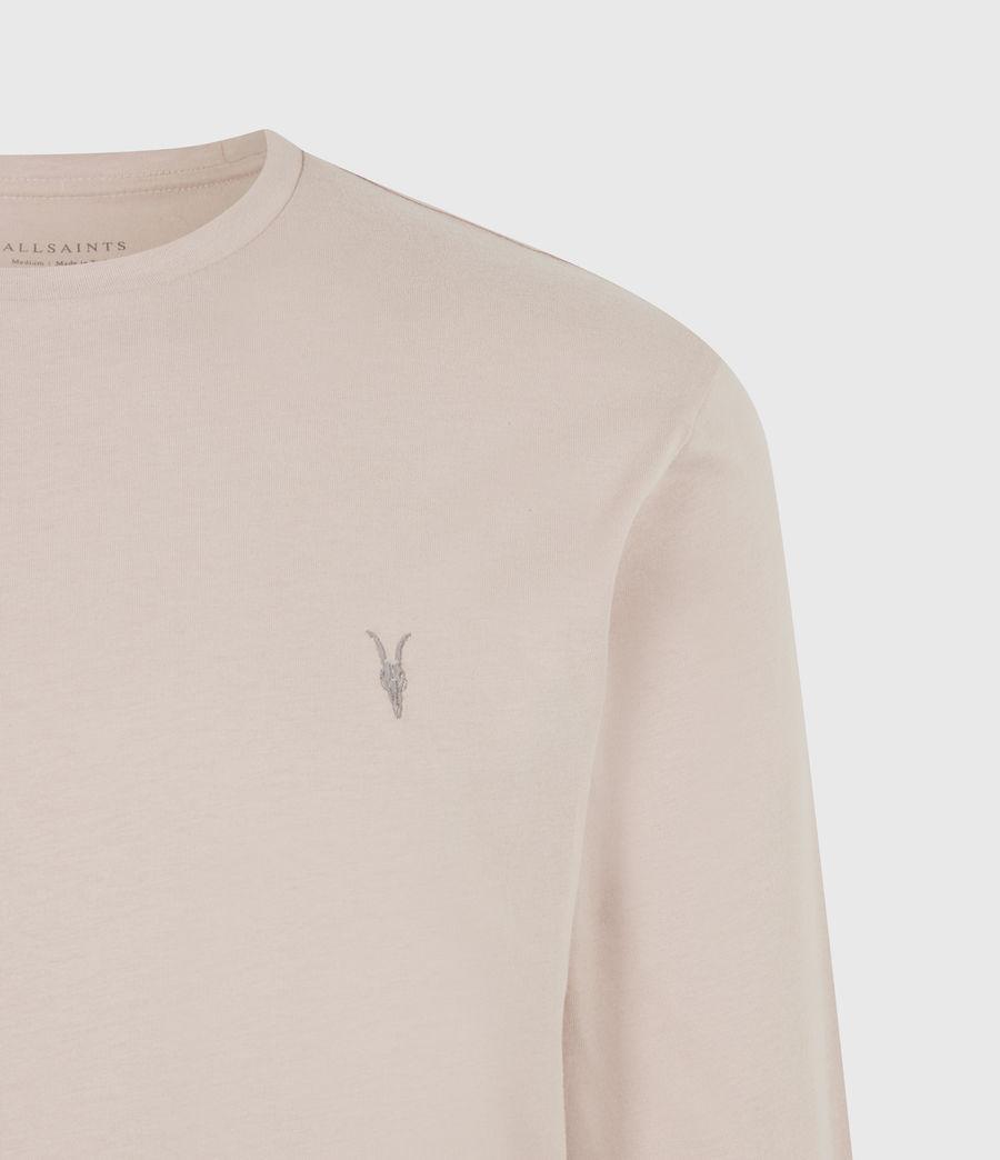 Mens Brace Long Sleeve Crew T-Shirt (balsa_stone_pink) - Image 5
