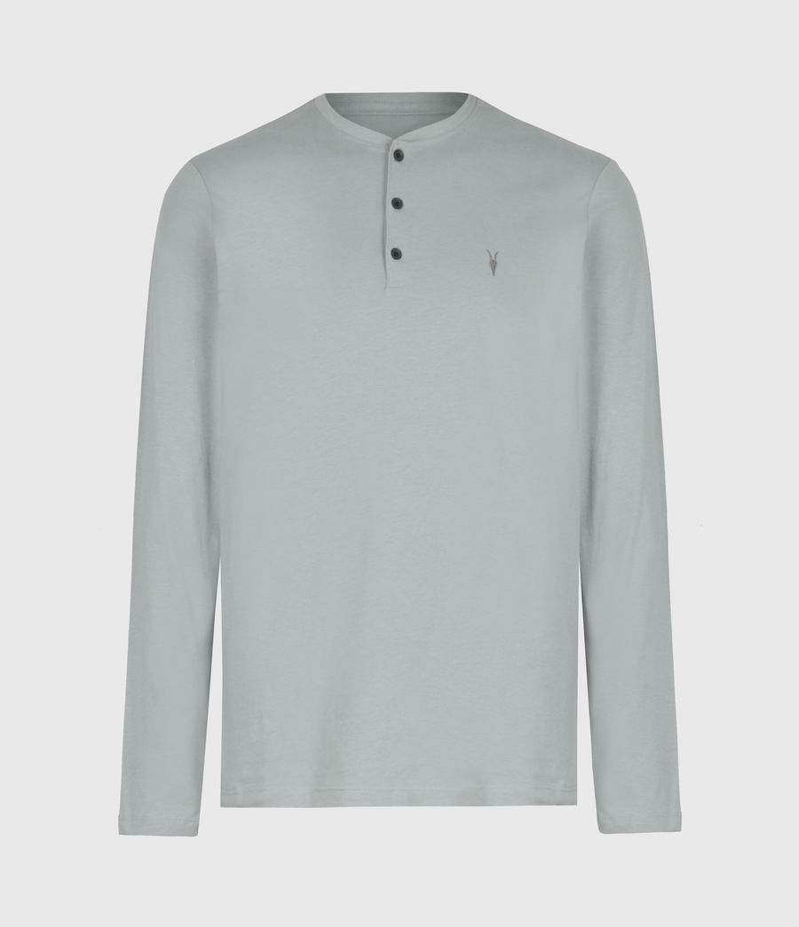 Mens Brace Henley Top (heath_grey) - Image 2