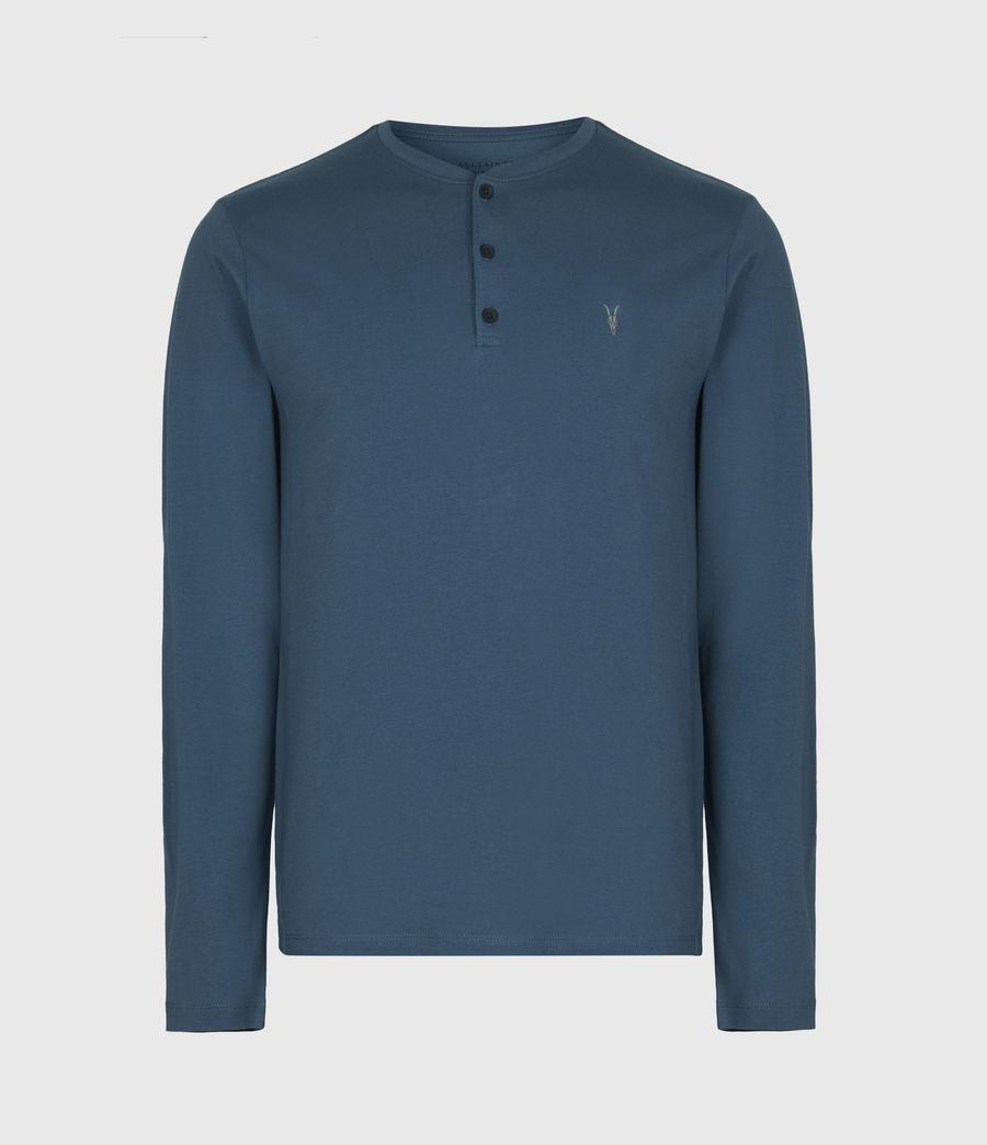 Herren Brace Henley Langarmshirt (misty_blue) - Image 2