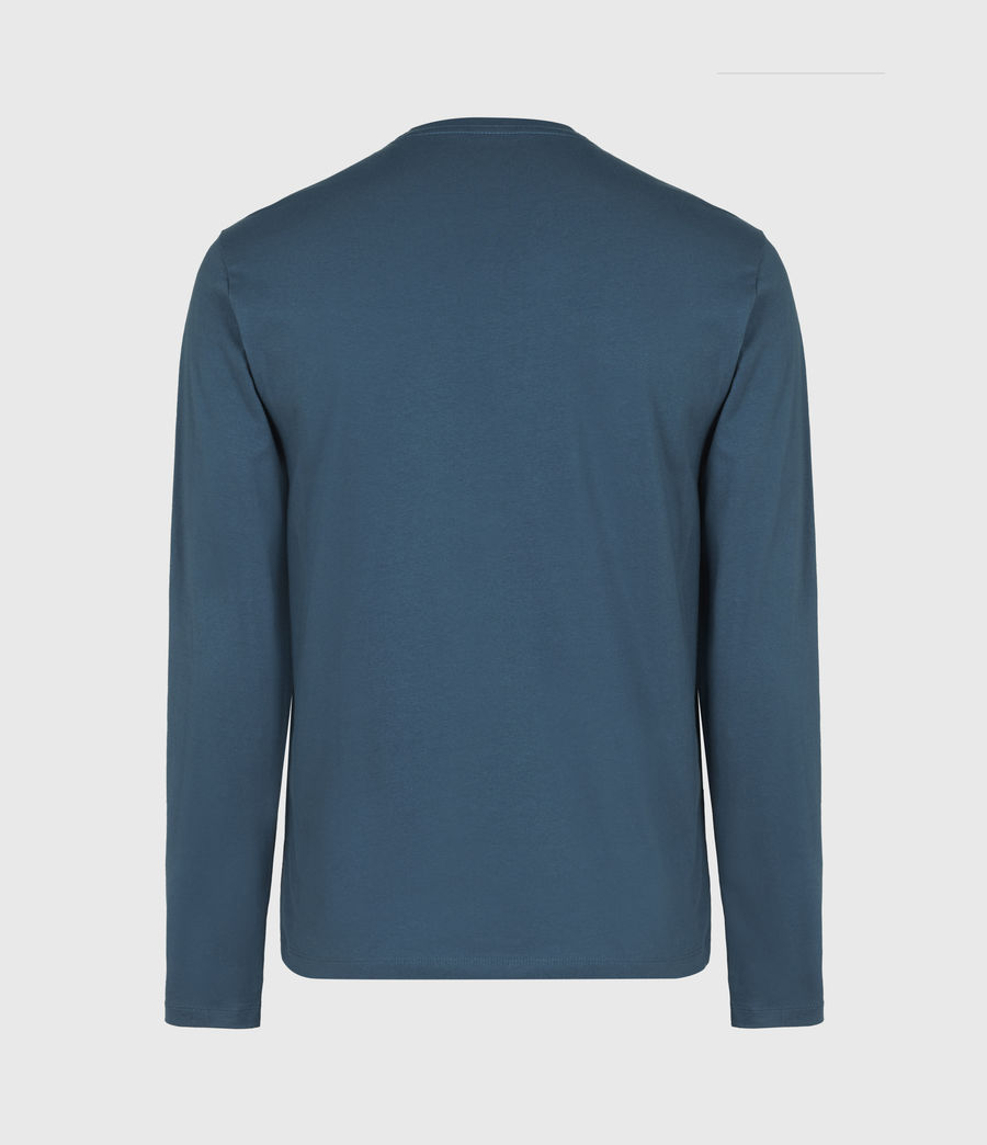 Herren Brace Henley Langarmshirt (misty_blue) - Image 3