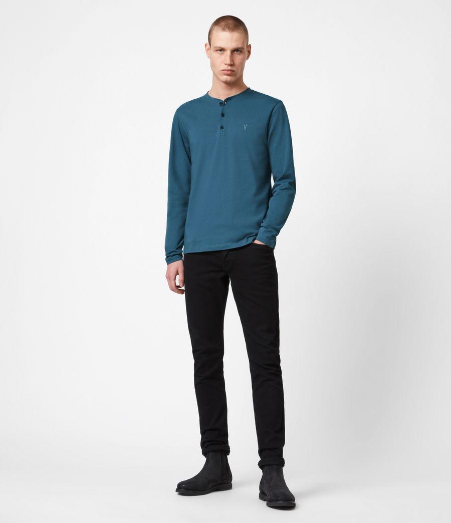 Herren Brace Henley Langarmshirt (misty_blue) - Image 4