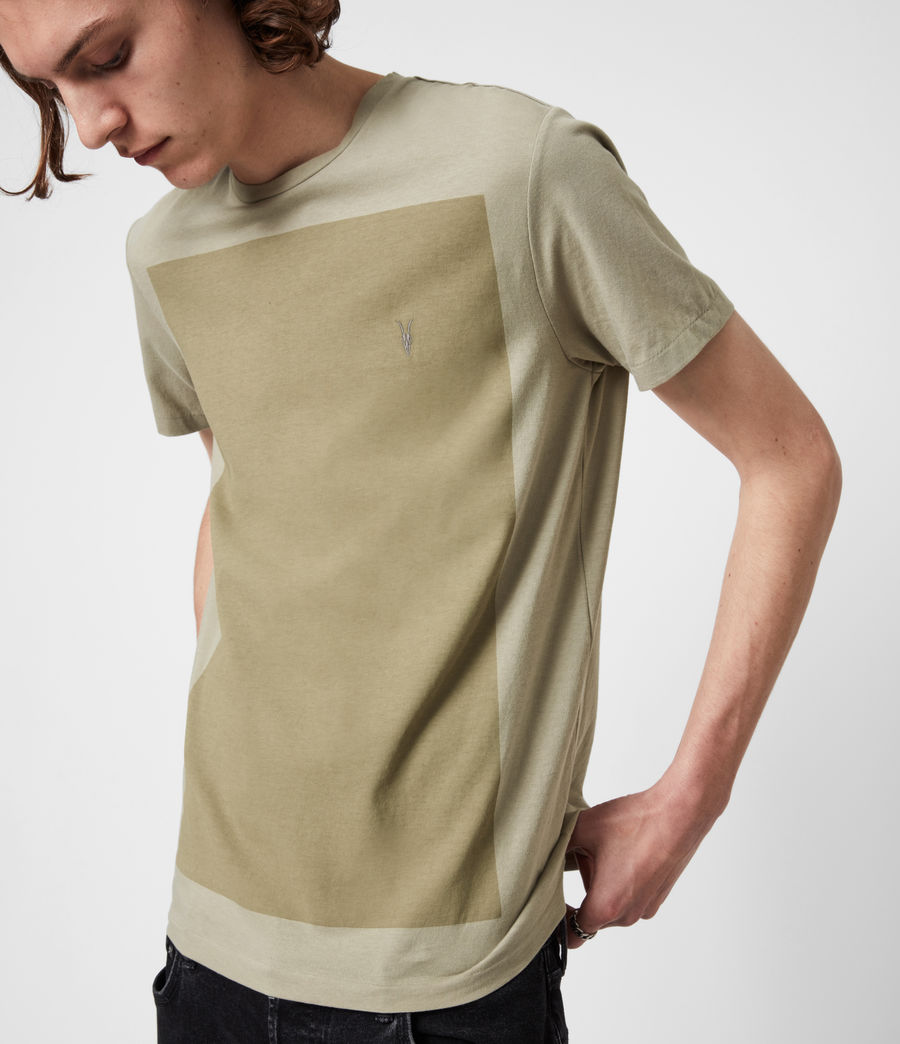 Hommes Lobke Crew T-Shirt (jasper_willow_taup) - Image 4