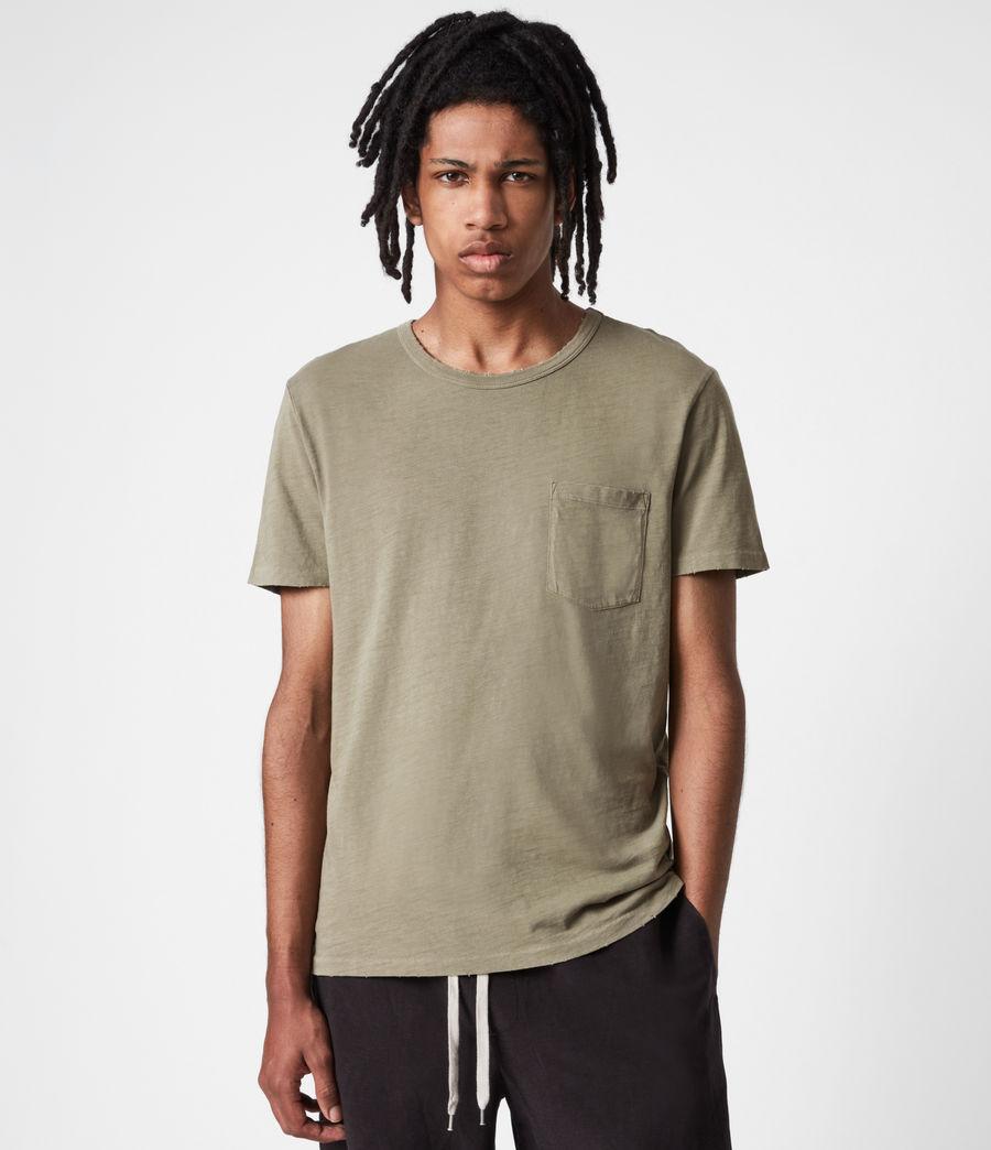 Men's Gage Organic Cotton Crew T-Shirt (mangrove_brown) - Image 1