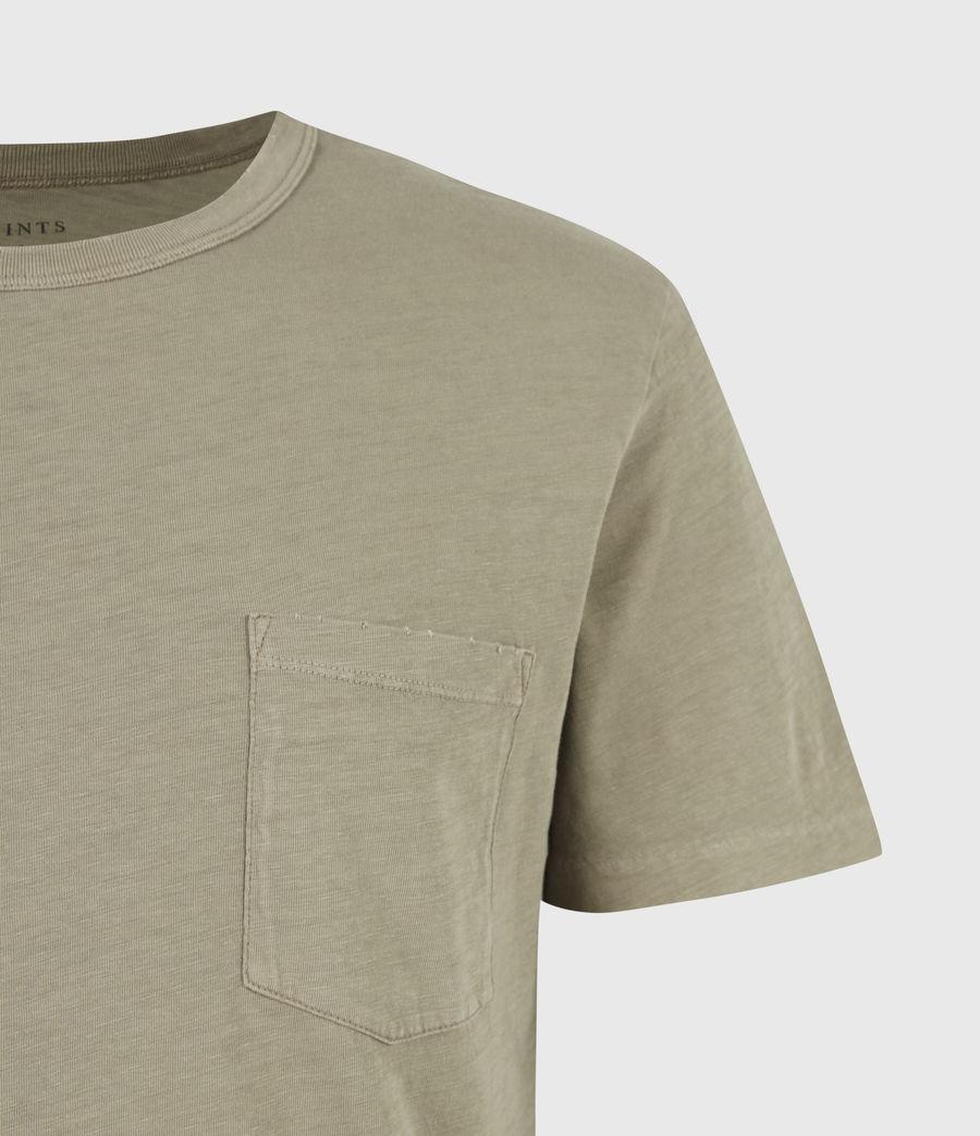 Men's Gage Organic Cotton Crew T-Shirt (mangrove_brown) - Image 5