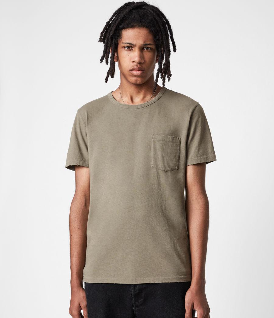 Mens Gage Organic Cotton Crew T-Shirt (palm_green) - Image 1