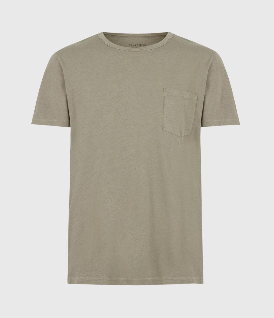 Mens Gage Organic Cotton Crew T-Shirt (palm_green) - Image 2