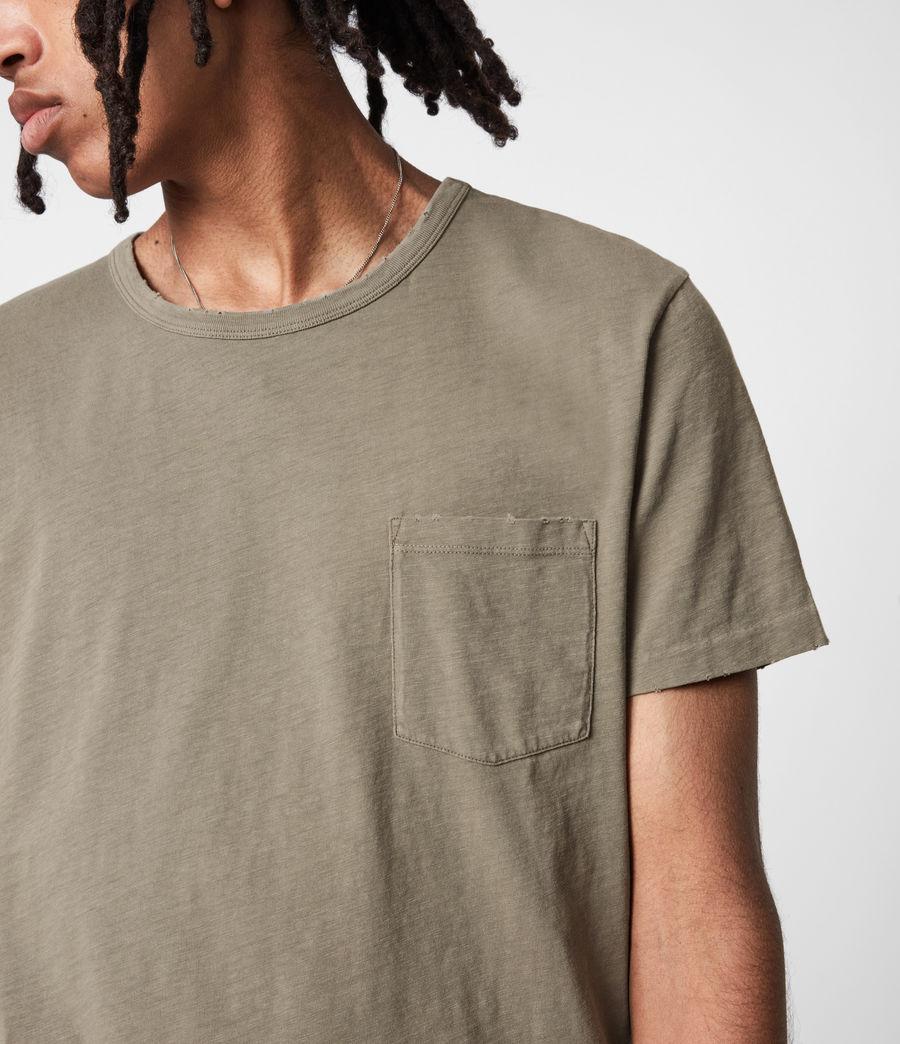 Mens Gage Organic Cotton Crew T-Shirt (palm_green) - Image 4