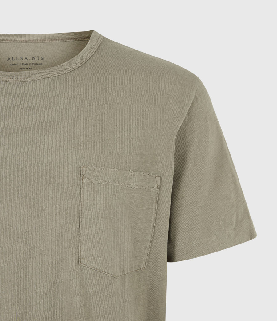 Mens Gage Organic Cotton Crew T-Shirt (palm_green) - Image 5