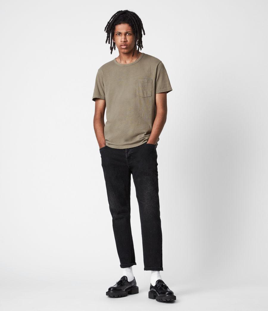 Mens Gage Organic Cotton Crew T-Shirt (palm_green) - Image 6