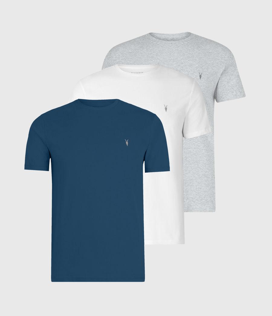 Men's Tonic Crew 3 Pack T-Shirts (optic_gry_ml_smalt) - Image 1