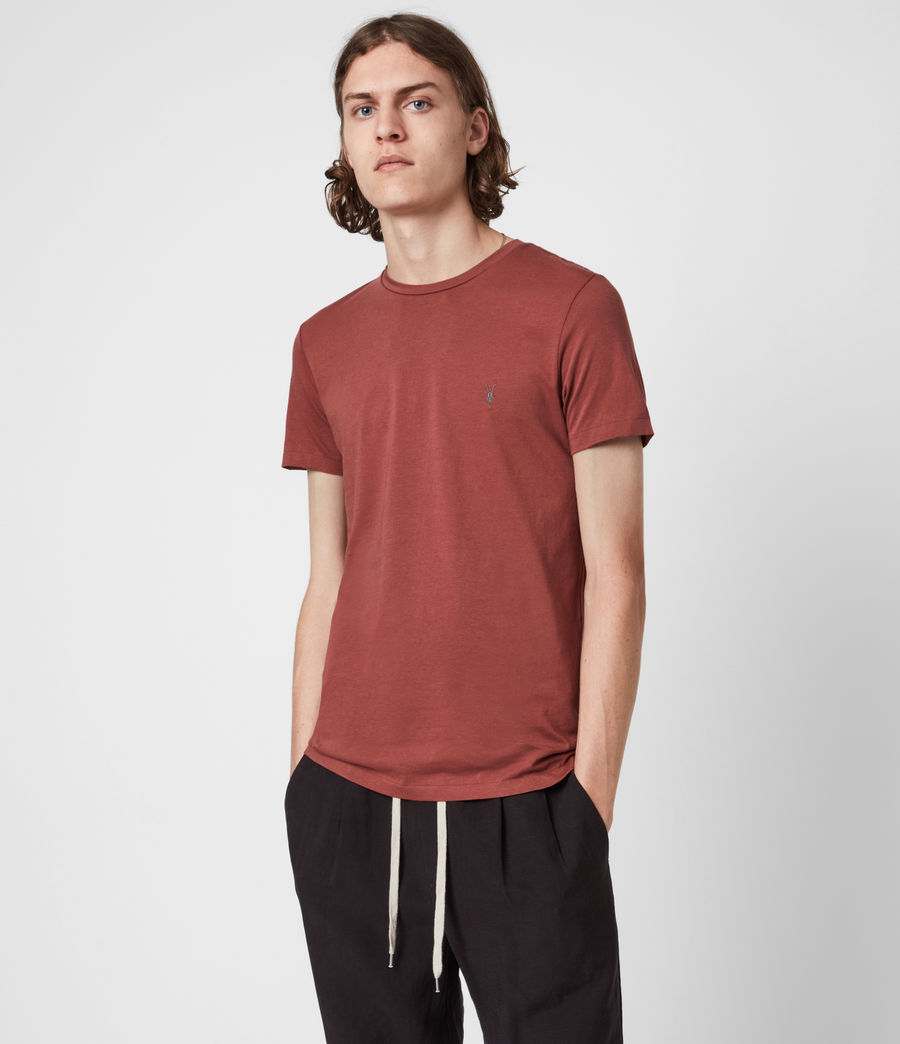 Herren Tonic Crew T-Shirt 3 Pack (jet_charcl_clay_rd) - Image 2