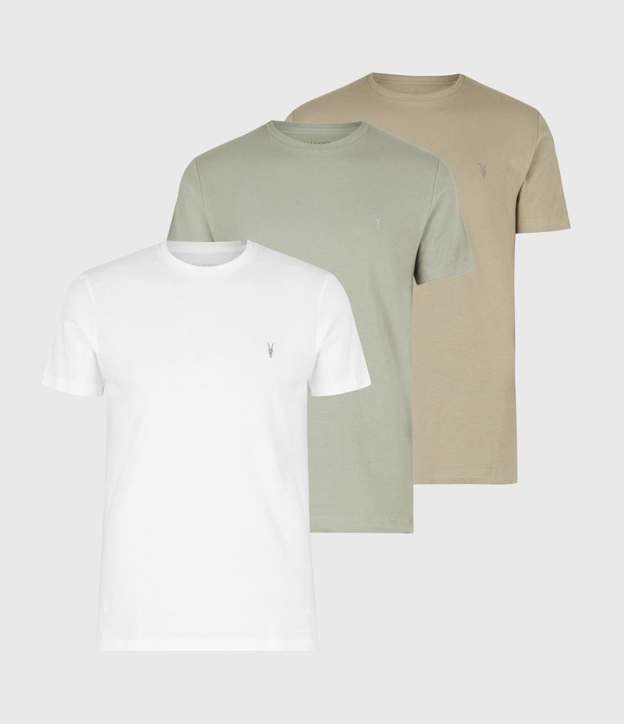 Herren Tonic Crew 3 Pack T-Shirts (optic_palm_agave_g) - Image 1