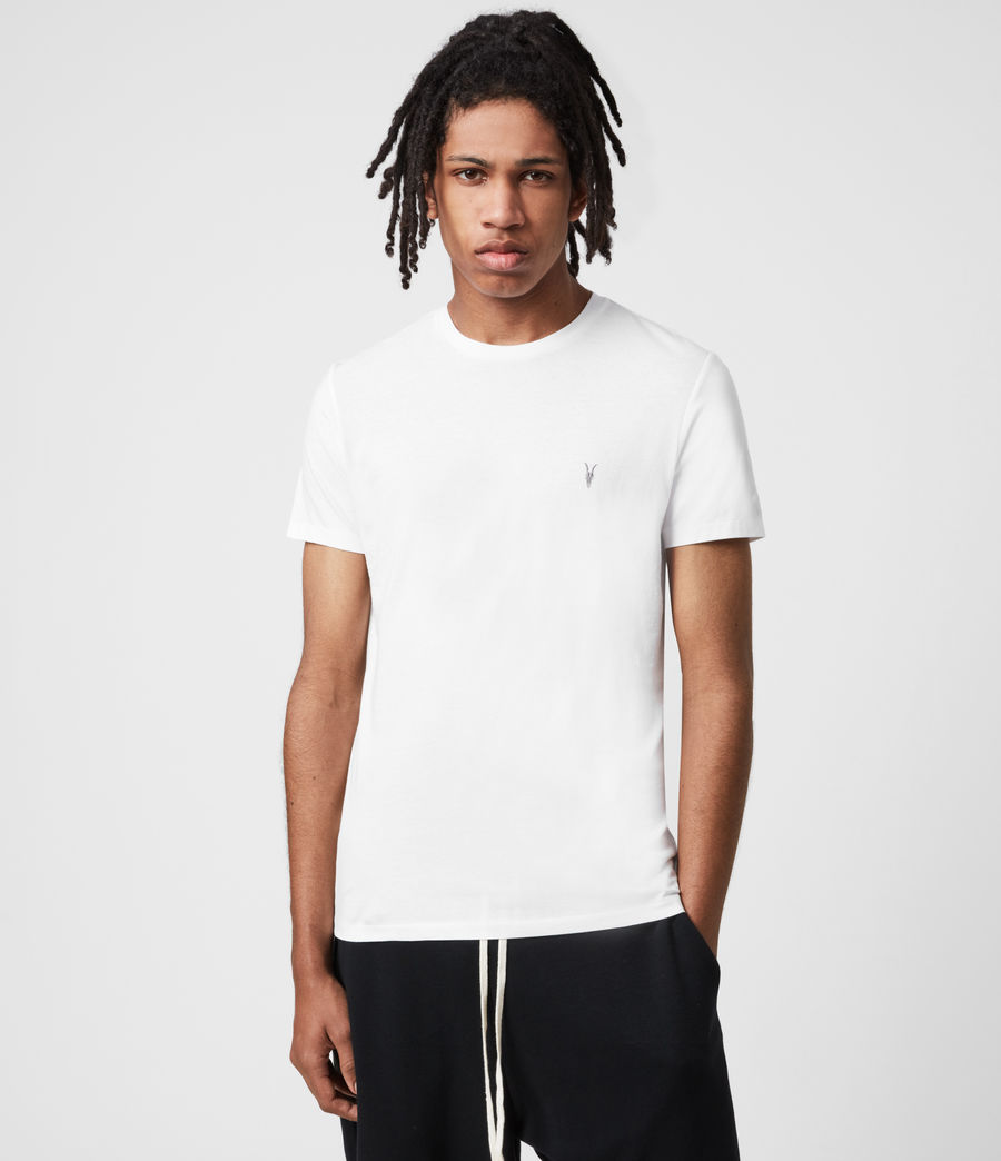 Herren Tonic Crew 3 Pack T-Shirts (optic_palm_agave_g) - Image 2