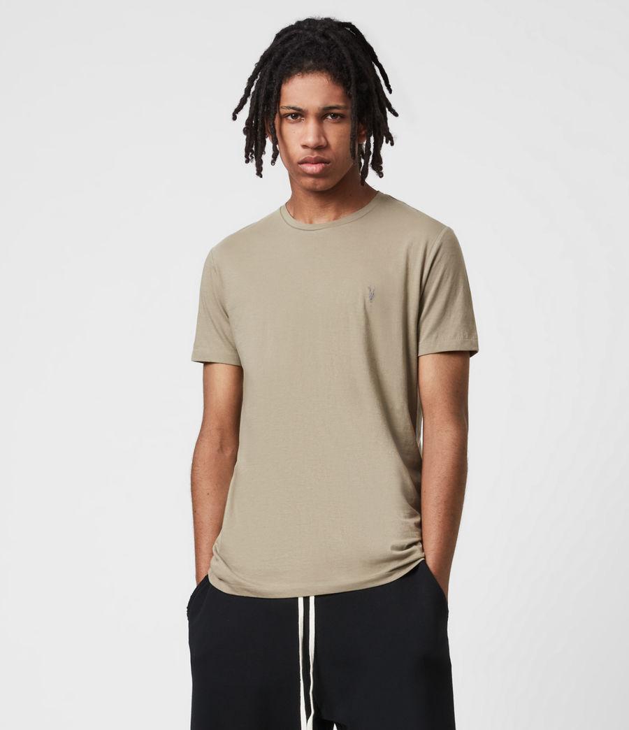 Herren Tonic Crew 3 Pack T-Shirts (optic_palm_agave_g) - Image 4