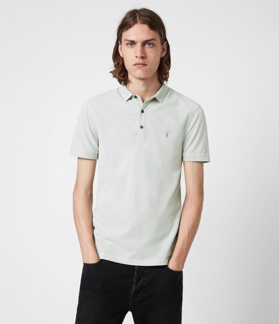 Herren Reform Short Sleeve Polo Shirt (mellow_green_marl) - Image 1