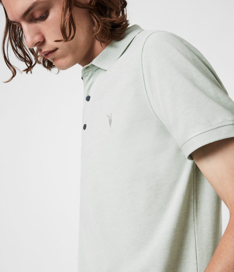 Herren Reform Short Sleeve Polo Shirt (mellow_green_marl) - Image 4
