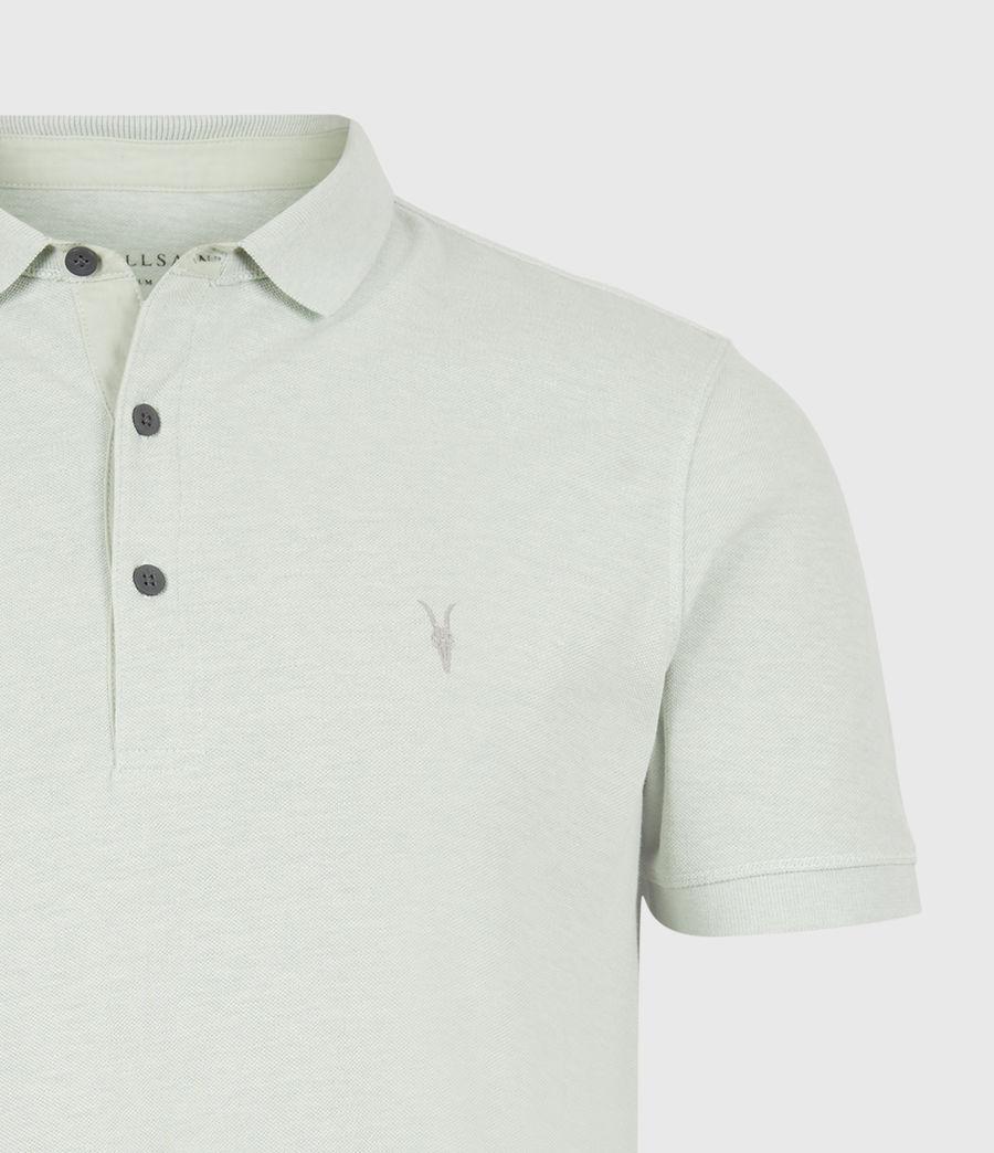 Herren Reform Short Sleeve Polo Shirt (mellow_green_marl) - Image 5