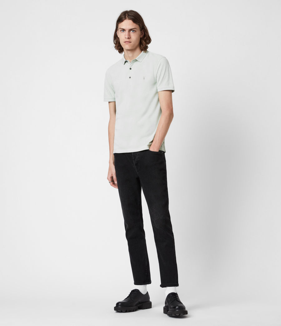 Herren Reform Short Sleeve Polo Shirt (mellow_green_marl) - Image 6