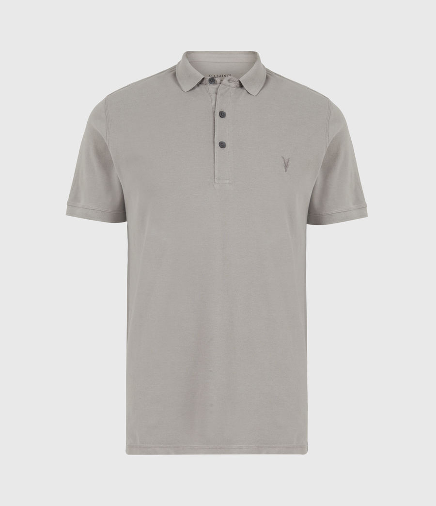 Herren Reform Short Sleeve Polo Shirt (gargoyle_grey) - Image 2