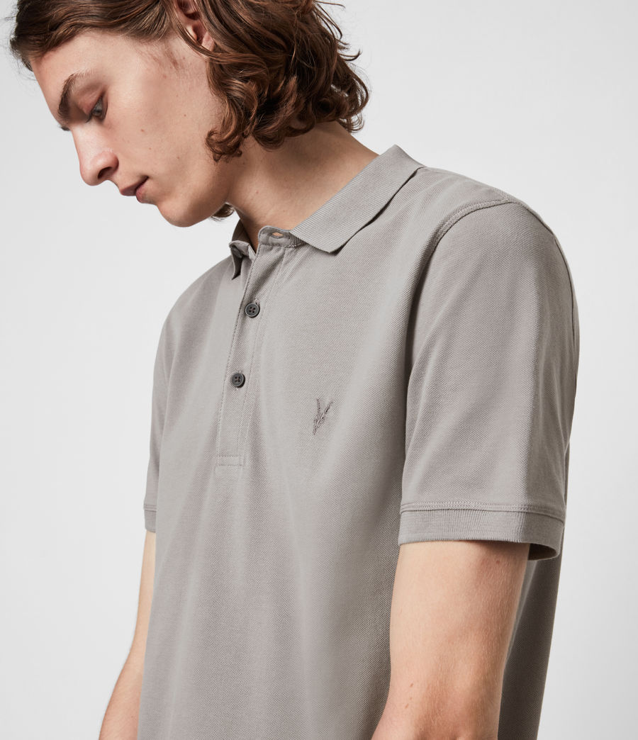 Herren Reform Short Sleeve Polo Shirt (gargoyle_grey) - Image 4