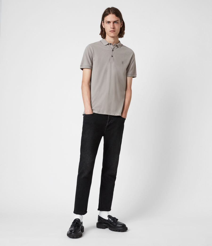 Herren Reform Short Sleeve Polo Shirt (gargoyle_grey) - Image 6