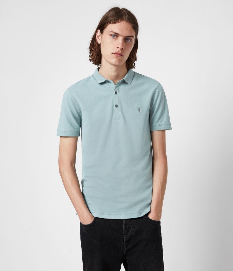 Herren Reform Short Sleeve Polo Shirt (moon_blue) - Image 1