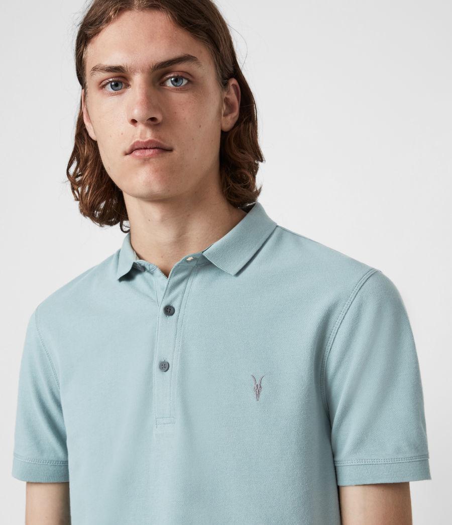 Herren Reform Short Sleeve Polo Shirt (moon_blue) - Image 4