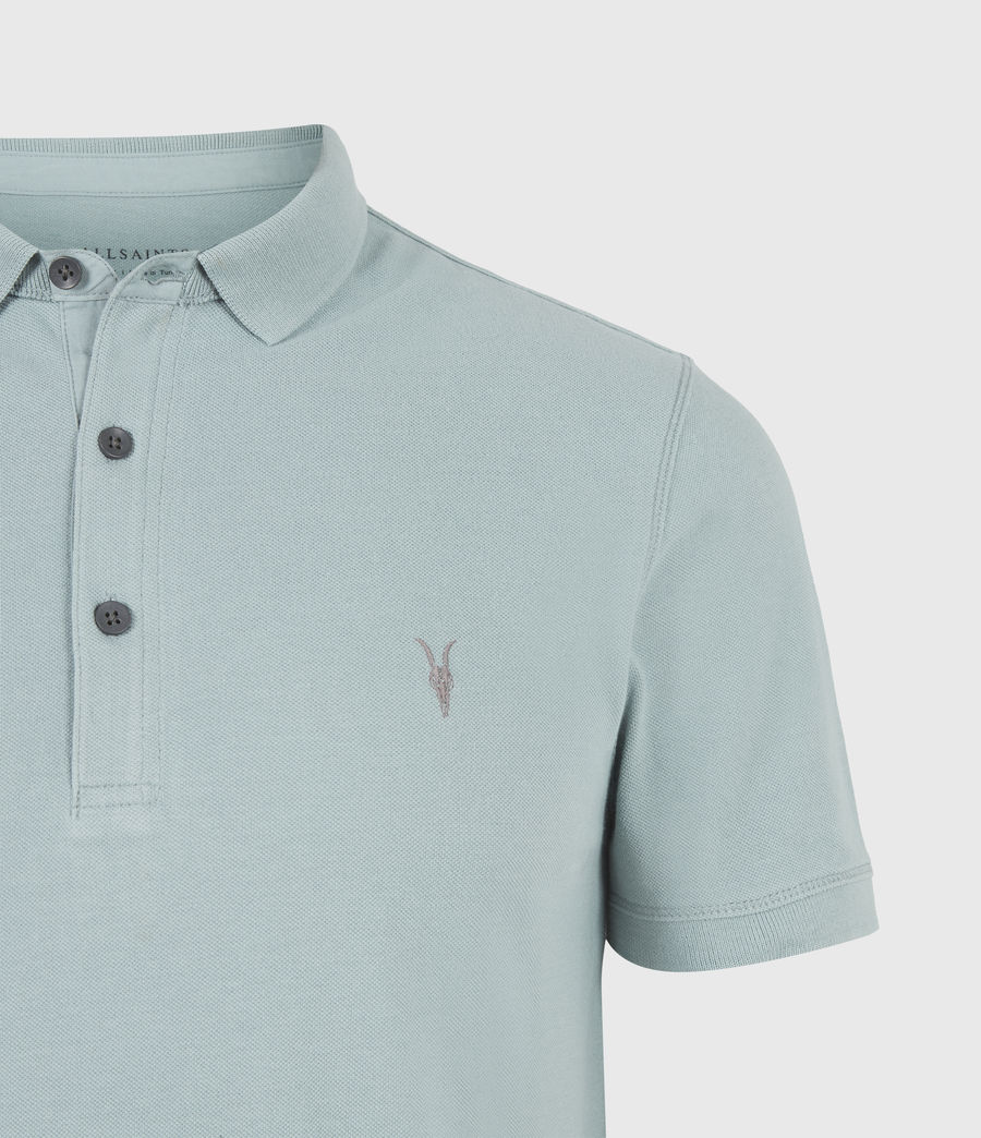 Herren Reform Short Sleeve Polo Shirt (moon_blue) - Image 5