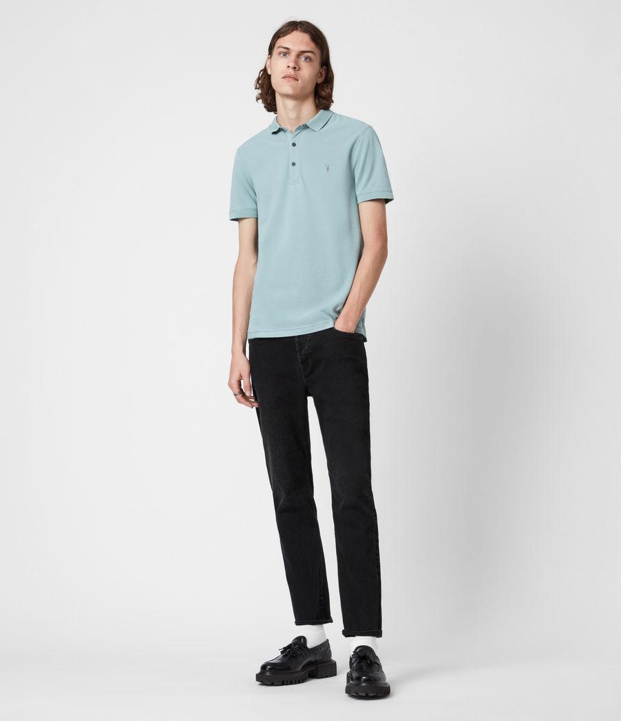 Herren Reform Short Sleeve Polo Shirt (moon_blue) - Image 6