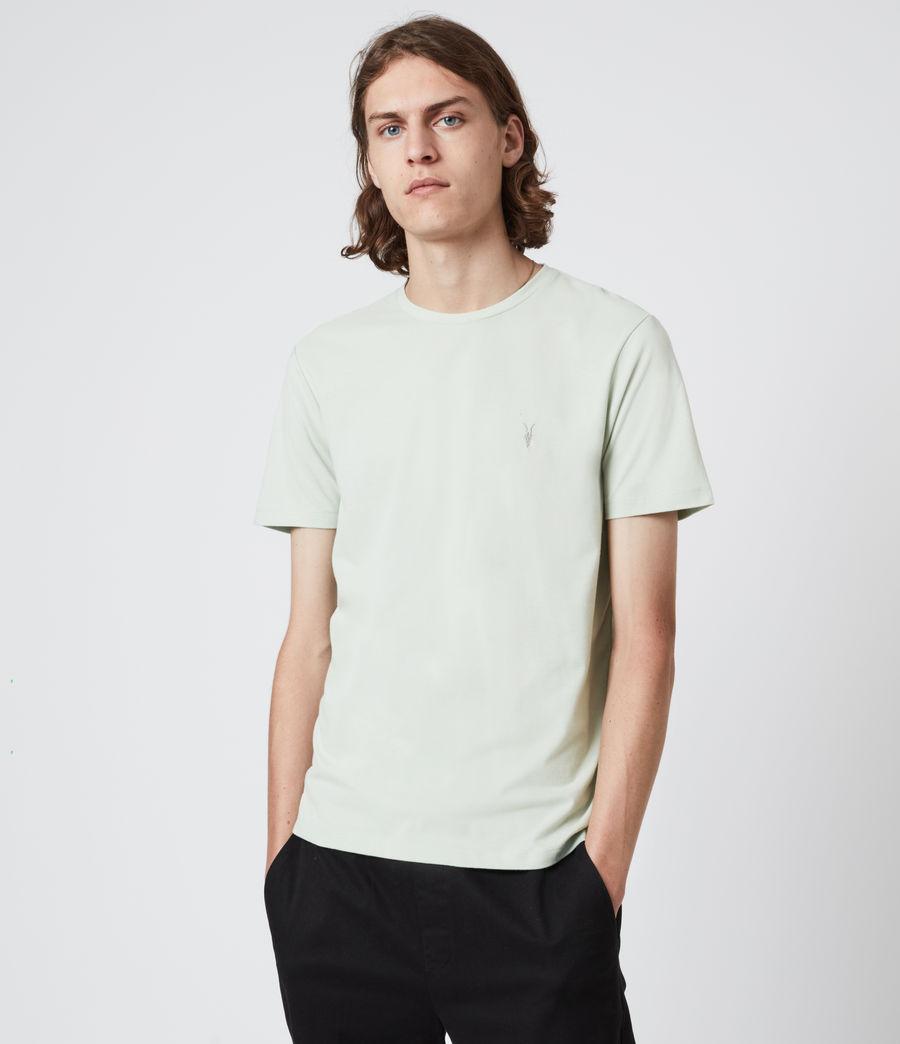 Herren Brace Crew T-Shirt (mellow_green_marl) - Image 1