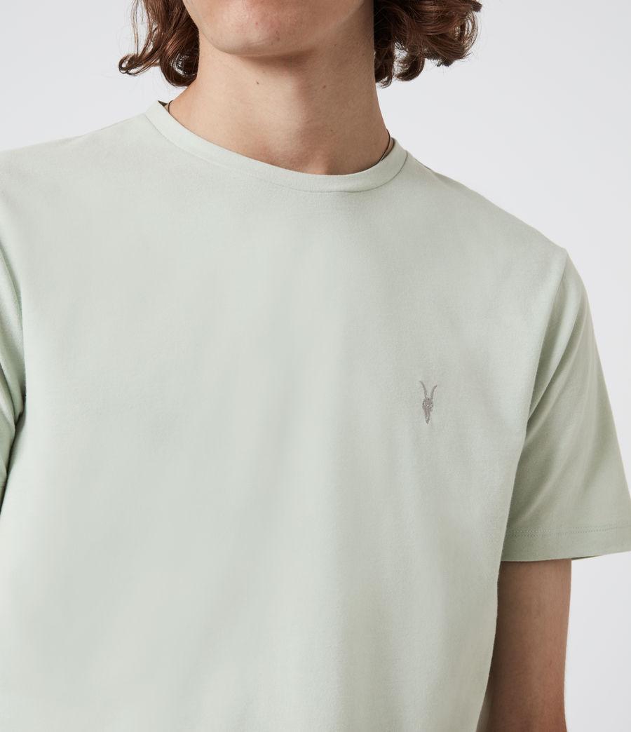 Herren Brace Crew T-Shirt (mellow_green_marl) - Image 4