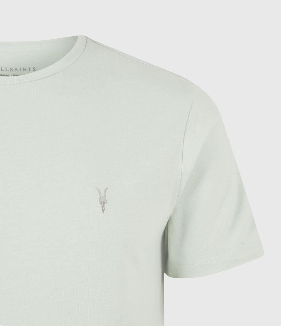 Herren Brace Crew T-Shirt (mellow_green_marl) - Image 5